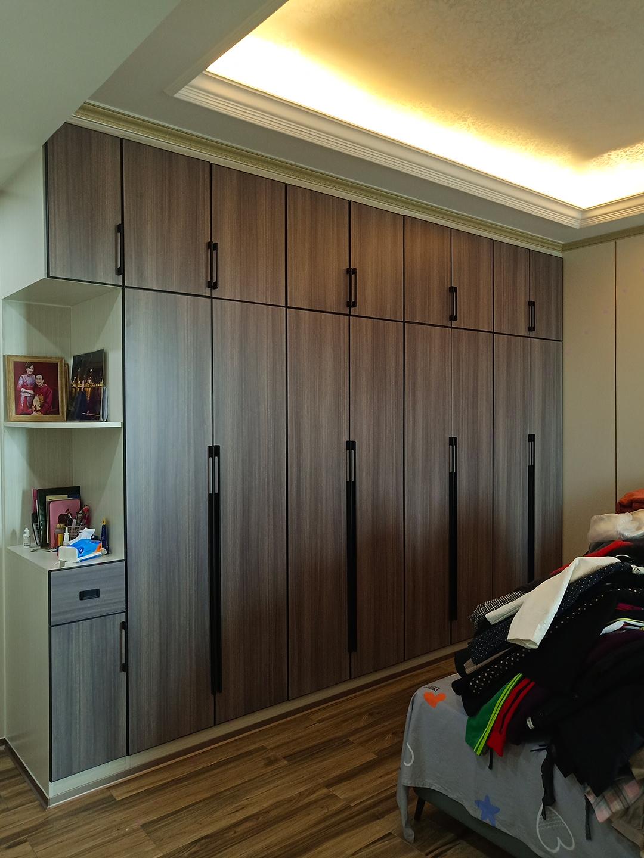 这套木纹色全铝全屋定制家具,效果让家人惊艳……