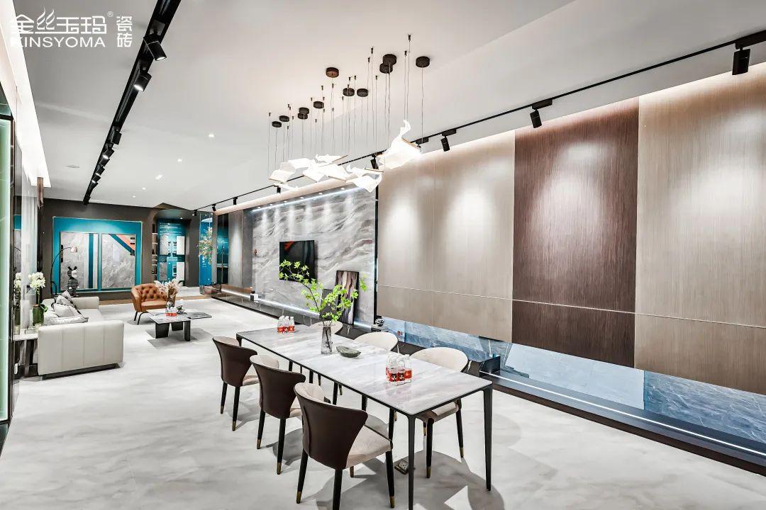 新高度 | 金丝玉玛K金岩板新展厅,开启奢雅新空间