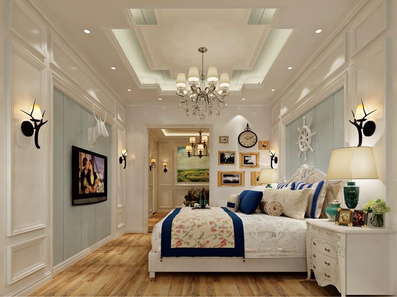 简约风格卧室(睡房)集成吊顶、集成墙面整装效果图