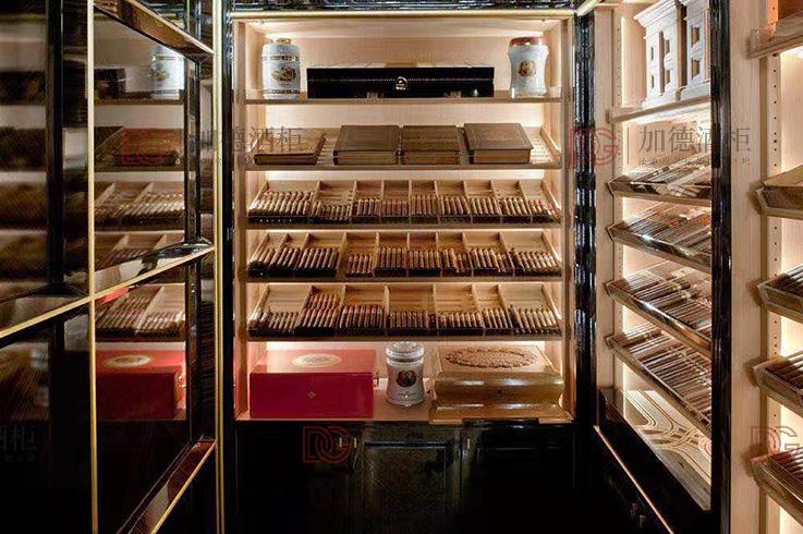 拉丝香槟金雪茄柜
